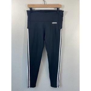 Adidas Black 3-STRIPES 7/8 TIGHTS Climalite
